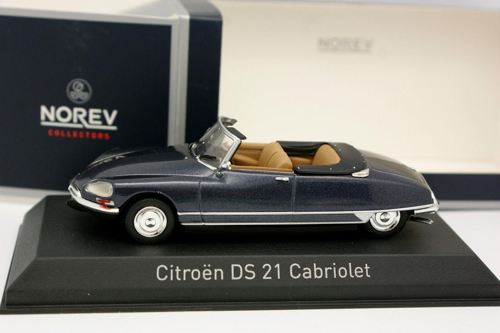 Norev 1/43 - Citroen DS 21 Cabrio Blu Grigia Metallo