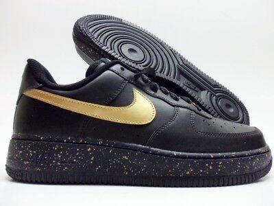 Force 1 Size 7 Nike Id Blackmetallic 5 Air Gold Low Women's