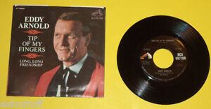 Eddy-Arnold-1966-Tip-Of-My-Fingers-Long-Long-Friendship-45-RPM-record-amp-Sleeve