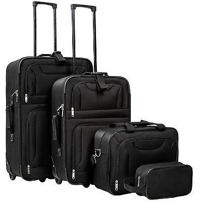 Conjunto de 4 Maletas Viaje Juego Set de maleta bolsa Trolley ruedas Negro Nuevo
