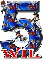 Beyblade Birthday Party T Shirt Iron On Transfer Beyblade Customized Decal Patch