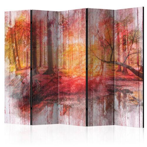 Landschaften Holz PARAVENT RAUMTEILER Spanische Wand TRENNWAND Herbst Baum Brett