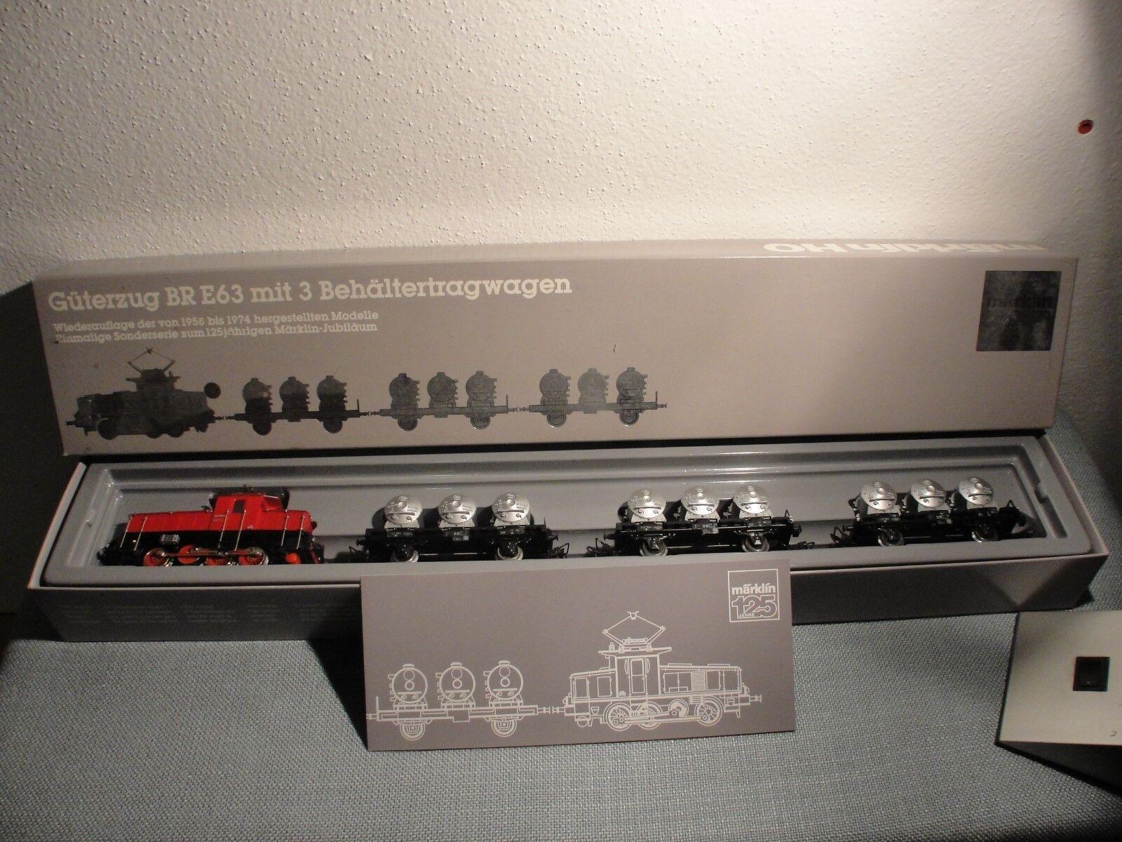 Märklin HO 2874 Güterzug Set  BR E63  TOP unbenutzt NEU OK