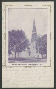 Gananoque-Ontario-c-1906-Postcard-ANGLICAN-CHURCH-Mailed-Thousand-Island-Park