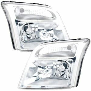 Ford-Transit-Connect-2002-2013-Headlights-Headlamps-1-Pair-O-S-And-N-S
