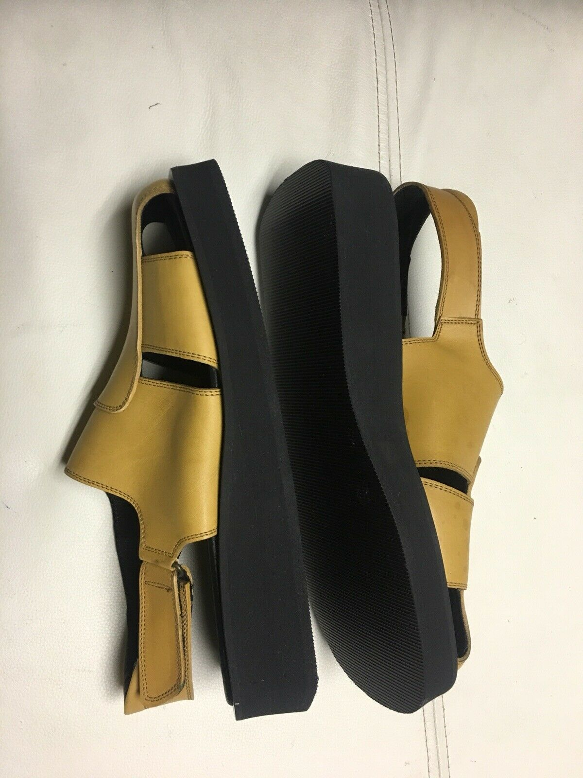 More Or Less 2000 Revival Sandals Yellow Sz 43 Made In .