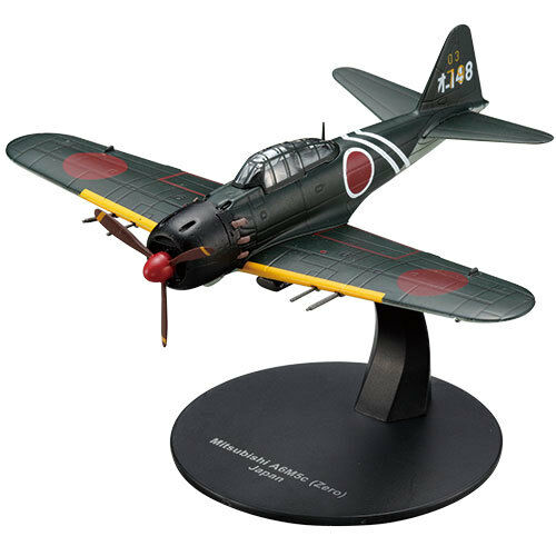1:72 Military plane WW2 DeAgostini AC2 Aircraft Mitsubishi A6M5 Zero