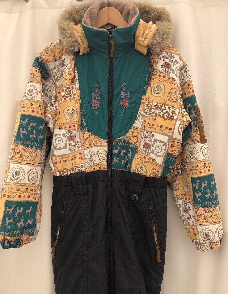 Vtg 80s Primpink OBERMEYER Snowsuit One Piece SKI SUIT  Snow Bib Juniors 18  best prices and freshest styles