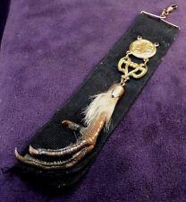 Victorian Art Nouveau Black Ribbon Watch Fob GF Pheasant Charivari Hunting Award