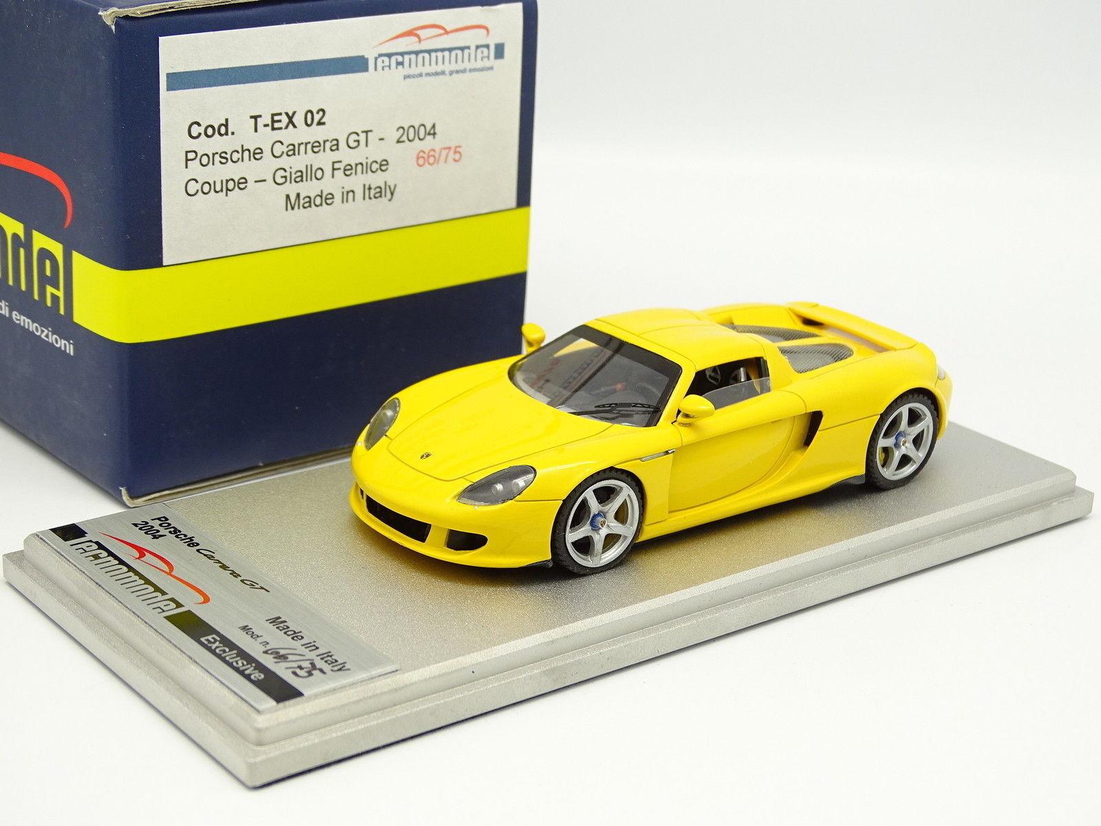 Tecnomodell 1 43 - Porsche bilrera GT Coupe 2004 gul