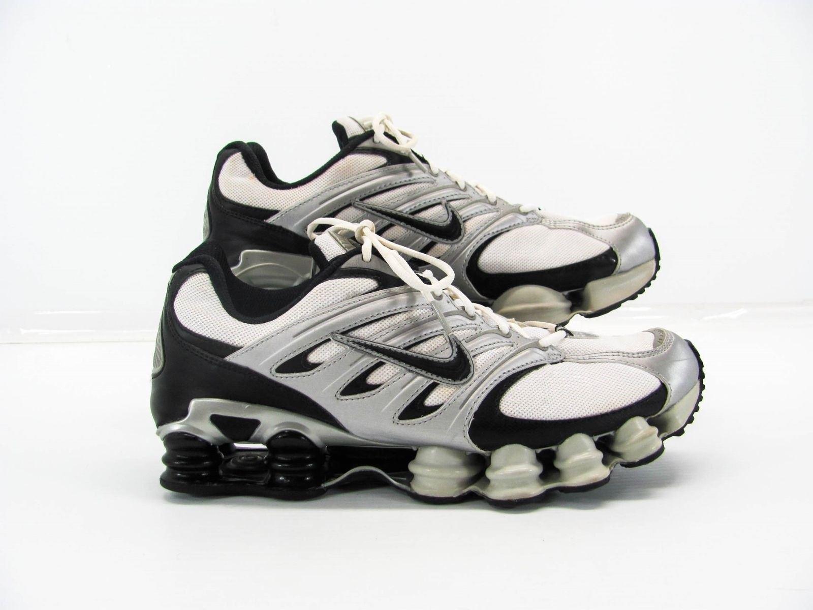 Nike shox männer männer männer weiße silver schwarzer schuh schuh uns 12m bereits im besitz. 9bbe9a