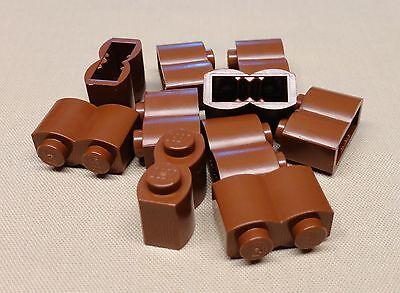 x10 Lego Brown Brick Modified 1 x 2 1x2 Log Wall 6762