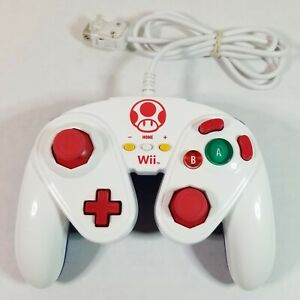 Nintendo Wii / Wii U Toad Wired Fight Pad Controller Wii U WORKS PERFECT