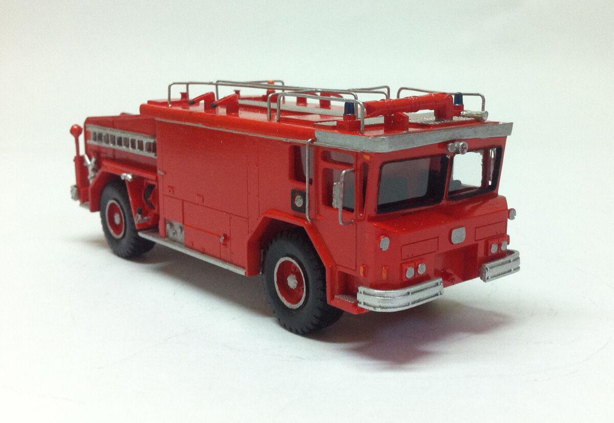 HO 1 87 Walter Yankee CB 3000 Manuel-Voiture de pompiers-prêts Résine Modèle