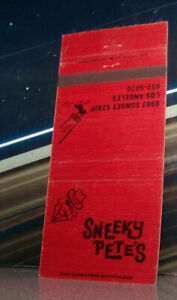 Vintage-Matchbook-Cover-C7-Los-Angeles-Californian-Sunset-Strip-Sneeky-Pete
