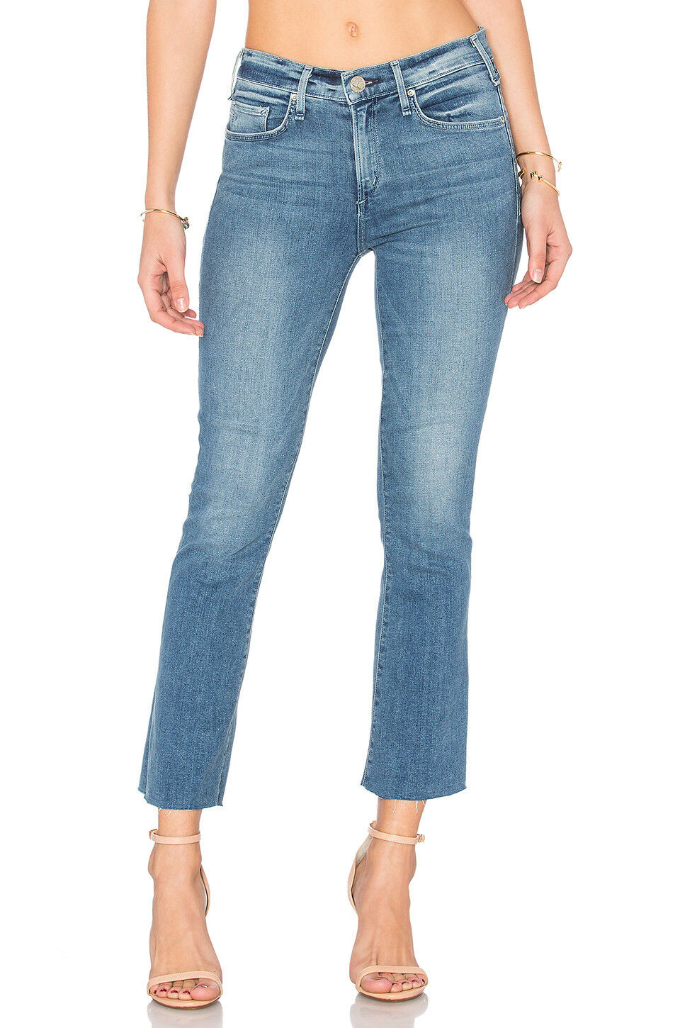 208 NEW Mcguire Denim Majorette - Cropped Flare With Raw Hem in Bochert Size 29