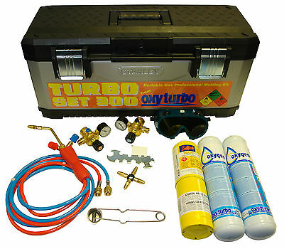 3S NEW EASY LASER KIT OXYTURBO WELDING TORCH wit Gas for Braising and Soldering