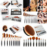 10PCS Pro Toothbrush Makeup Brush Eyebrow Oval Powder Cream Foundation Brush Set