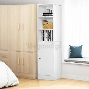 Mdf Tall Bathroom Cabinet Cupboard, Tall Bathroom Shelving Units