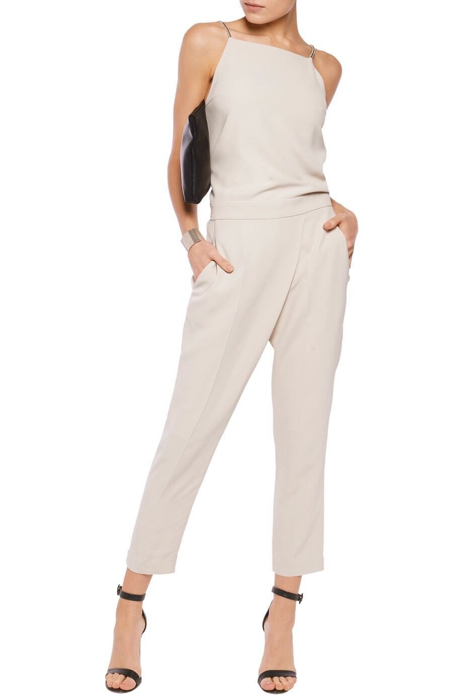 Brunello cucinelli Studded Silk Jumpsuit