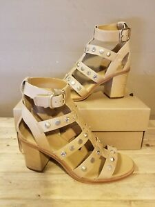 7f4bee4f11c Details about UGG Australia Macayla Studded Bling Latte Leather Heeled  Sandals Size 8.5US
