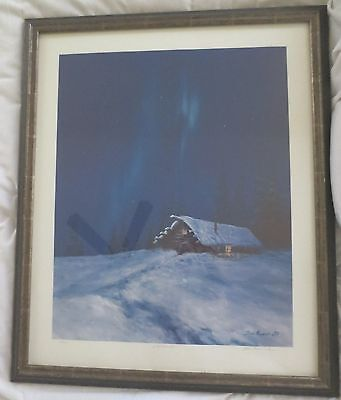 "1970 Vintage ALASKA Full Color Art Plate /""SKAGWAY MAIN STREET/"" McIntyre Litho"