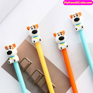 Details About 3 Pc Lovely Gentleman Dog Gel Pens Cute Puppy Dogs Stationery Novelty Gifts