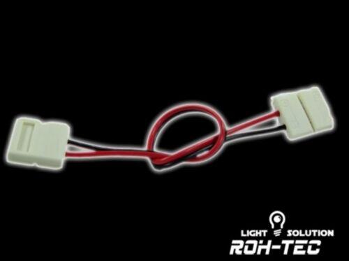 2-Pin Klapp-Verbinder 1-Chip Stripes 12cm Kabel 2 LED//SMD Streifen mit 8mm