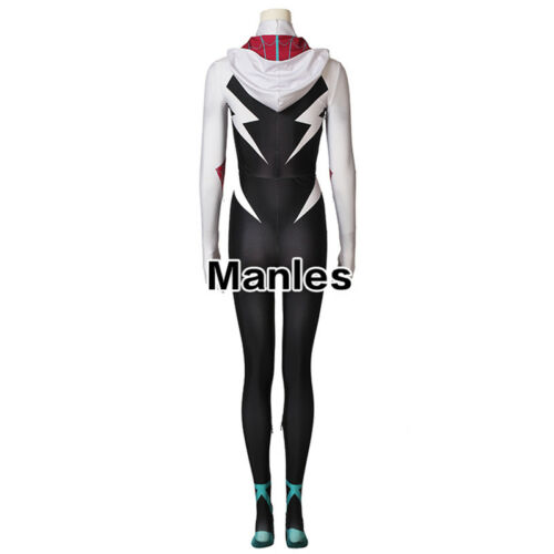 Spider Man Into the Spider Verse Cosplay Gwen Stacy Costume Zentai Women Outfits