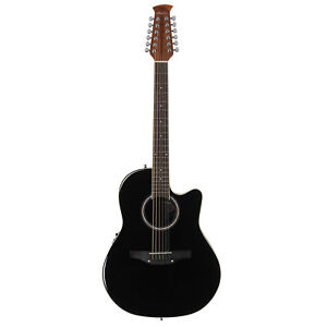 Ovation-Applause-12-String-Acoustic-Electric-Guitar-Mid-Depth-Black