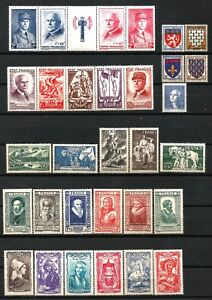 FRANCE-Annee-1943-Complete-31-Timbres-neufs-luxe-cote-215