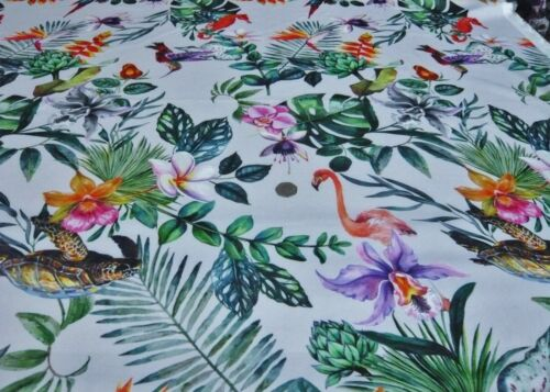 Scuba pesado estiramiento jersey estampado-jungla salvaje vestido de tela libre P/&p Reino Unido solamente