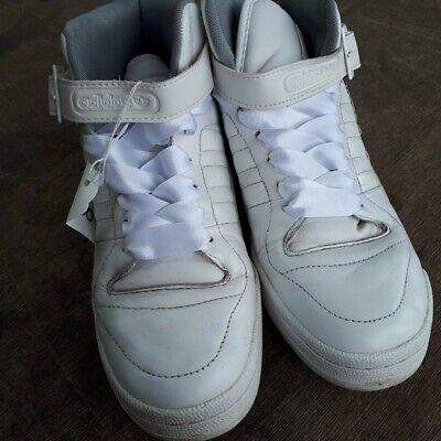 Adidas Forum Mid Baskets Homme Cuir Blanc UK 7 Cherry Gaufré Baskets | eBay