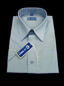 NEW Boys Light Blue SHORT Sleeve Dress Shirt, ALL SIZES(4~20)