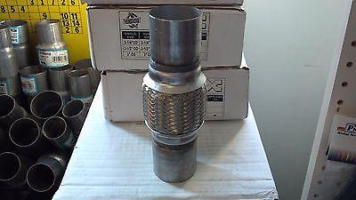 "8/"" Overall Length W Jones Universal Exhaust Flex Pipe Fits 2/"" Id X 4/"" Body"