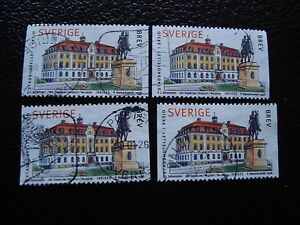 SUEDE-timbre-yvert-et-tellier-n-2025-x4-obl-A29-stamp-sweden-A