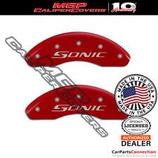 Mgp Caliper Brake Cover Red 14213fsncrd Front Only For Chevrolet Sonic 2018 2019