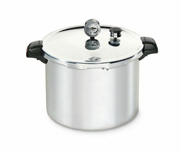 Presto 16-Quart Aluminum Pressure Cooker and Water Bath Canner with Dial Guage
