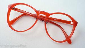 Knallrote Vintagebrille große Pantoform individuell extra auffällig Boho size M