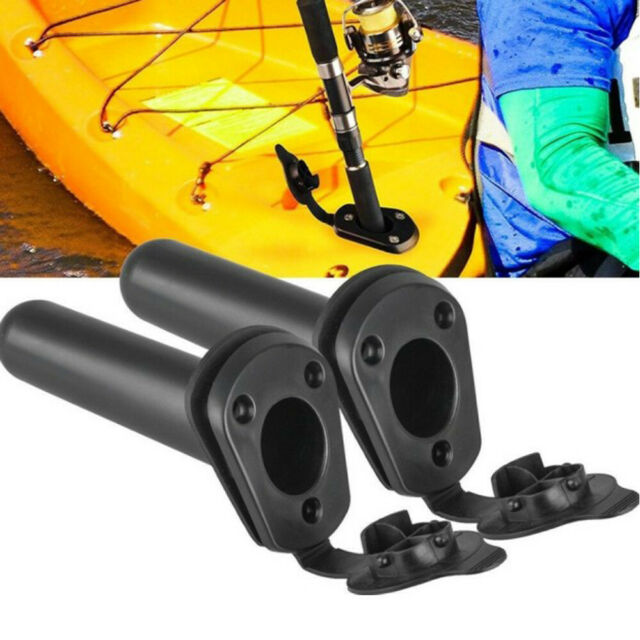 Flush Mount Canoeing Kayak Pole Fishing Tackle Fixed Bracket Rod Holder Support