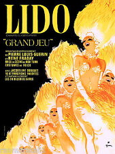 Paris Lido Can Can France French Europe Vintage Travel Advertisement Art Poster