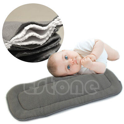 Lot Bamboo 5 Layers Fiber Charcoal Washable Cloth Insert Reusable Nappies Diaper