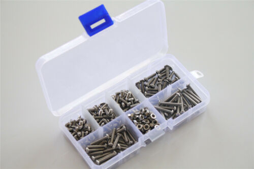 M3 304 Stainless Steel 250pcs Allen Screws Bolts And Hex Nuts Assortment Kit