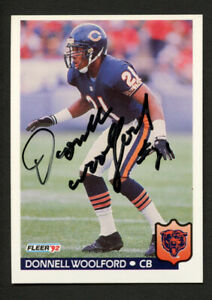 Donnell Woolford #51 signed autograph auto 1992 Fleer Football Trading Card