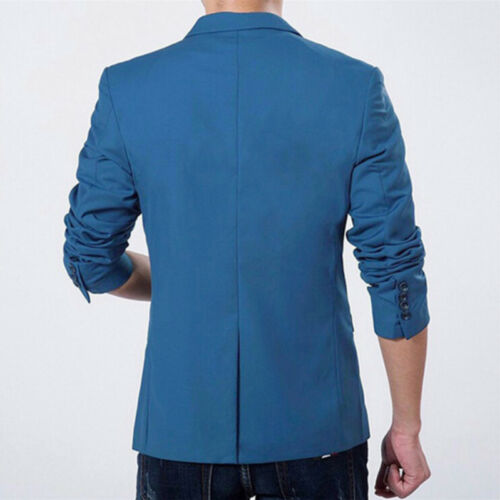 Men/'s Slim Fit One Button Suit Blazer Business Leisure Work Coat Jacket Outwear