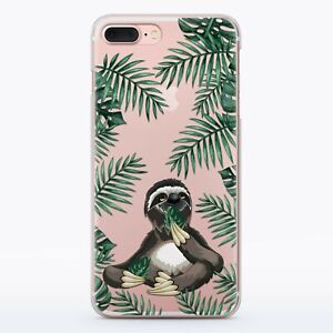 Sloth-Tropical-Silicone-iPhone-XR-Case-Funny-Animal-iPhone-5s-6s-7-8-Plus-Cover