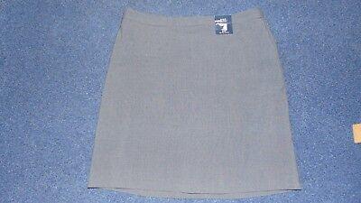 """Nett M&s Fully Lined 2 Way Stretch Smart Tailored Mini Skirt Uk 14 L20"""" Charcoal Bnwt Kann Wiederholt Umgeformt Werden. Kleidung & Accessoires"""