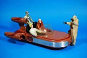 VINTAGE-STAR-WARS-COMPLETE-LANDSPEEDER-4-ACTION-FIGURES-KENNER-land-speeder
