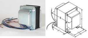 Power-Transformer-Soldano-SLO100-100W-Push-Pull-4-X-6L6-Rohr-Amplifier