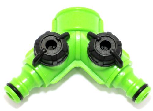 UK sizes Gardena 3 Way Hose Splitter with Dual Shut Off GD231 fits Hozelock